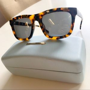 Karen Walker • Deep Freeze Crazy Tort Sunglasses •